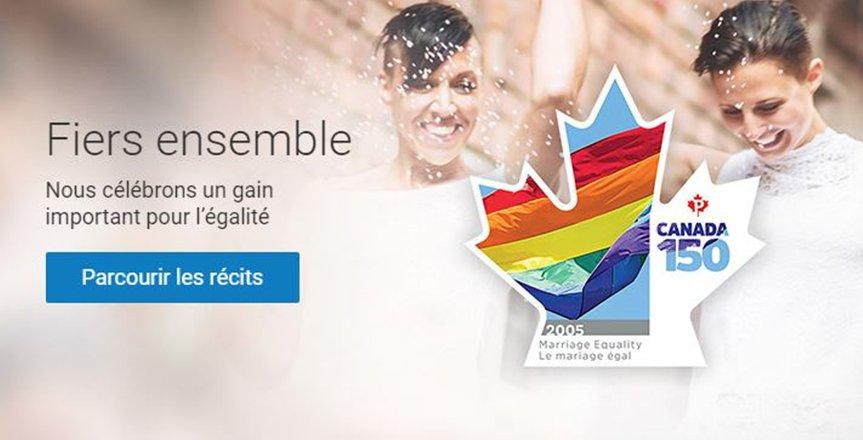 Canada : un timbre célèbre l'ouverture au mariage pour les couples homos