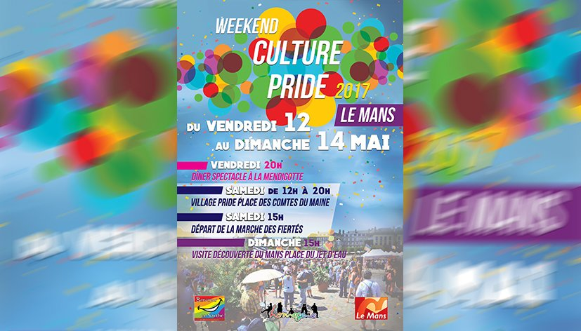 Le Mans : Week-end Culture Pride du 12 au 14 mai