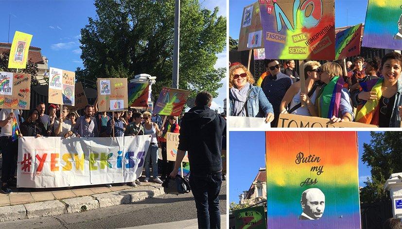 Marseille : un kiss-in en soutien aux LGBT Tchétchènes