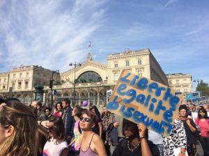L'association Bi'cause à la journée internationale de la bisexualité le 23 septembre - Crédit photo : Victoria Roure