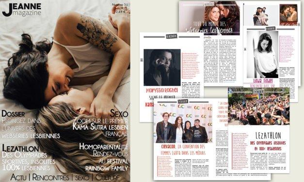 Sortie de Jeanne Magazine n°51 – Avril 2018