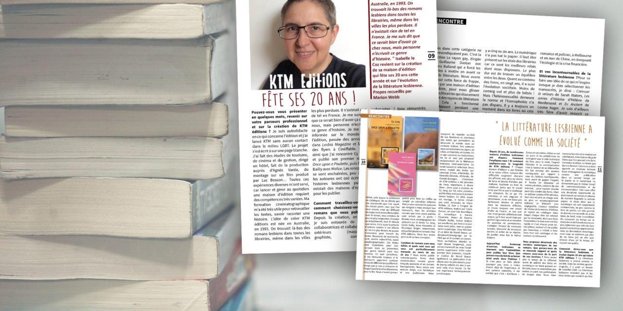 KTM Editions fête ses 20 ans !