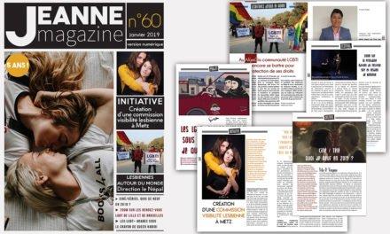 Sortie de Jeanne Magazine n°60 – janvier 2019