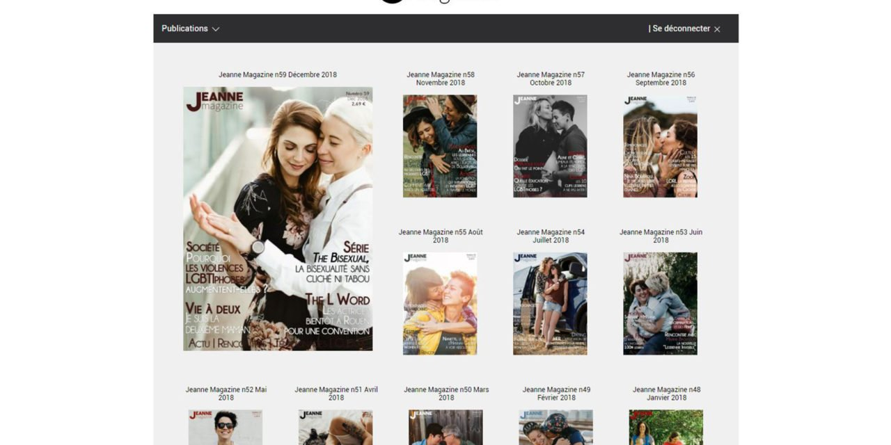 Nouveau : Découvrez le kiosque Jeanne Magazine