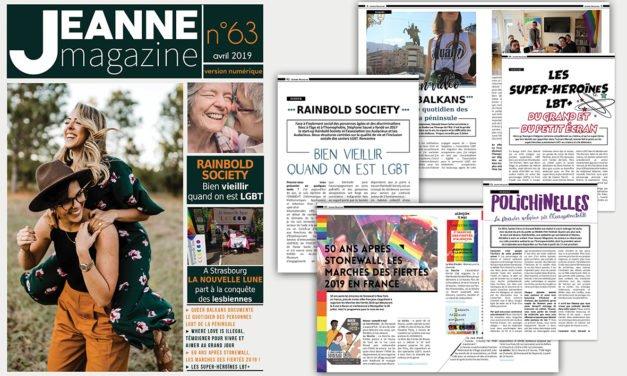 Sortie de Jeanne Magazine n°63 – Avril 2019