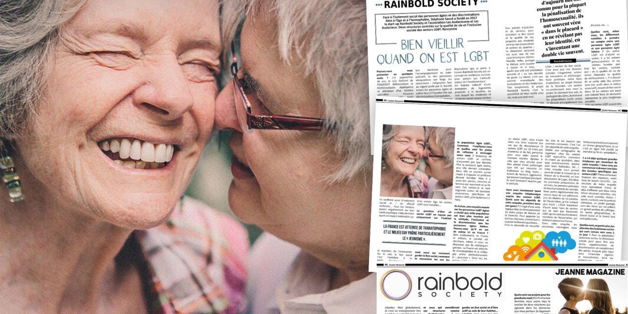 Rainbold Society : Bien vieillir quand on est LGBT