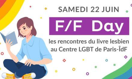Paris : F/F Day – les rencontres du livre lesbien le 22 juin