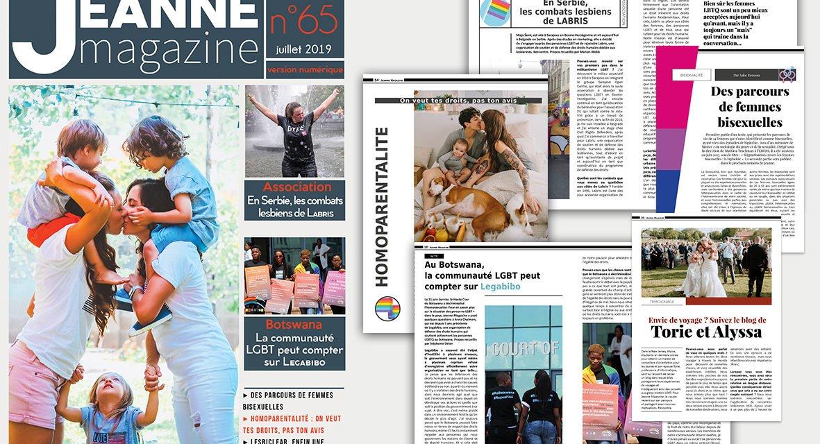 Sortie de Jeanne Magazine n°65 – juillet 2019