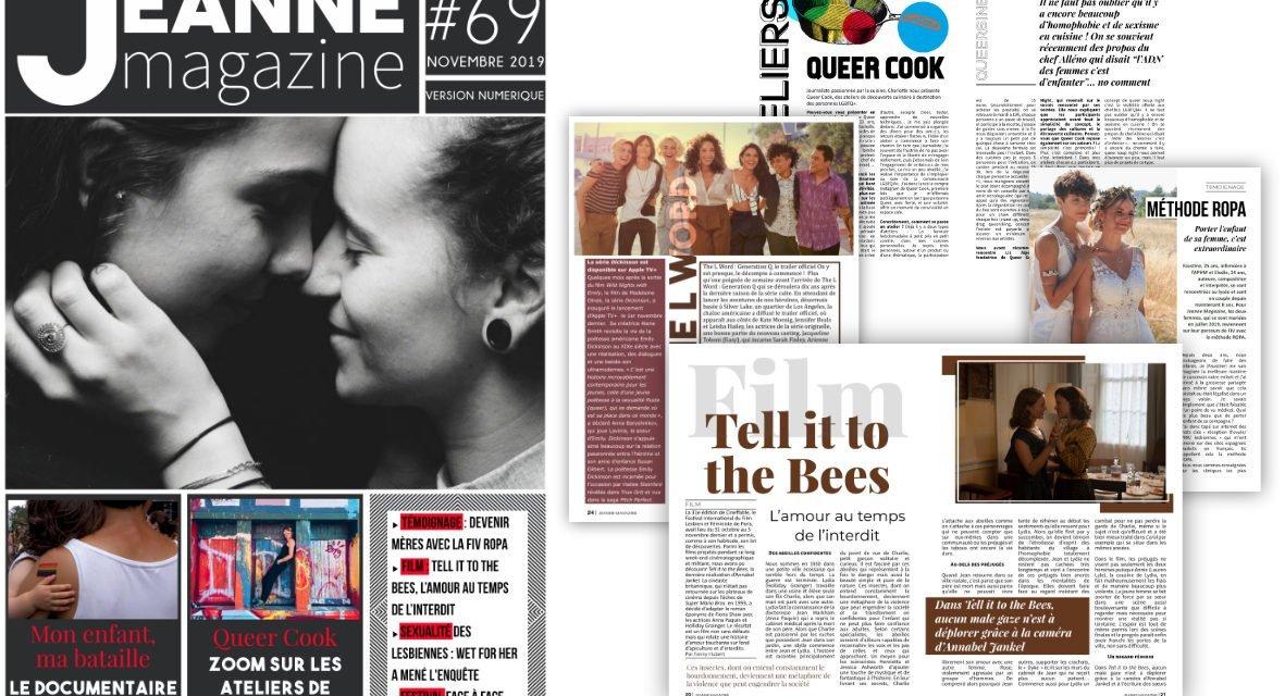 Sortie de Jeanne Magazine n°69 – Novembre 2019