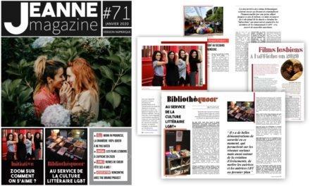 Sortie de Jeanne Magazine n°71 – janvier 2020