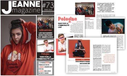 Sortie de Jeanne Magazine n°73 – Mars 2020
