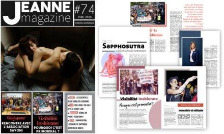 Sortie de Jeanne Magazine n°74 – Avril 2020