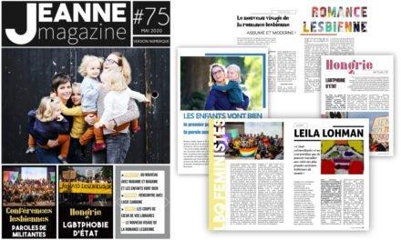 Sortie de Jeanne Magazine n°75 – Mai 2020