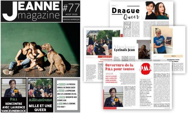 Sortie de Jeanne Magazine n°77 – Août 2020