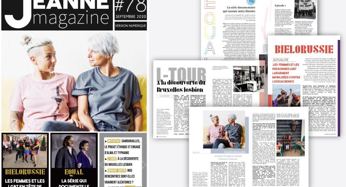 Sortie de Jeanne Magazine n°78 – septembre 2020