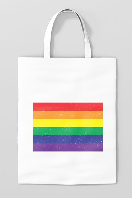 tote bag rainbow