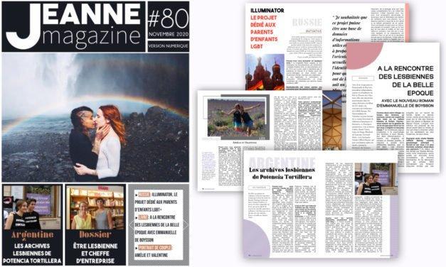 Sortie de Jeanne Magazine n°80 – Novembre 2020