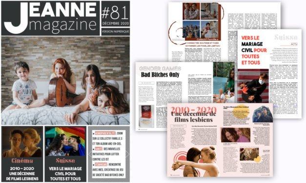 Sortie de Jeanne Magazine n°81 – Décembre 2020
