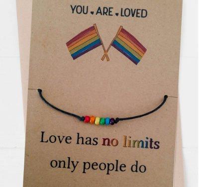 Carte-bracelet rainbow