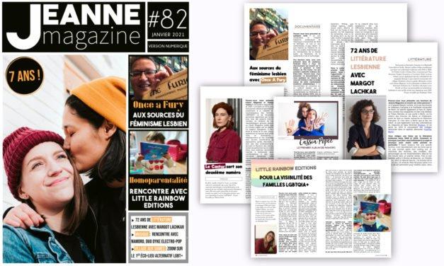 Sortie de Jeanne Magazine n°82 – Janvier 2021