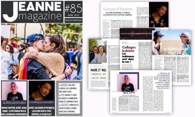 Sortie de Jeanne Magazine n°85 – Avril 2021