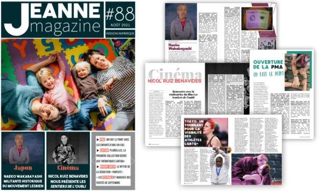 Sortie de Jeanne Magazine n°88 – Août 2021