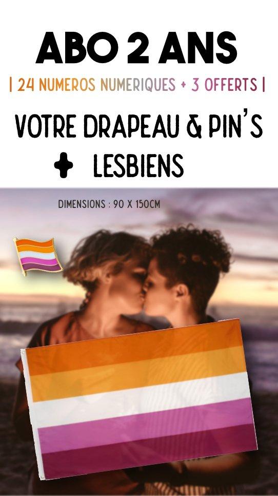 Offre drapeau et pin's lesbiens