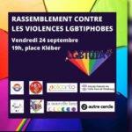 Un rassemblement contre les violences LGBTIphobes à Strasbourg